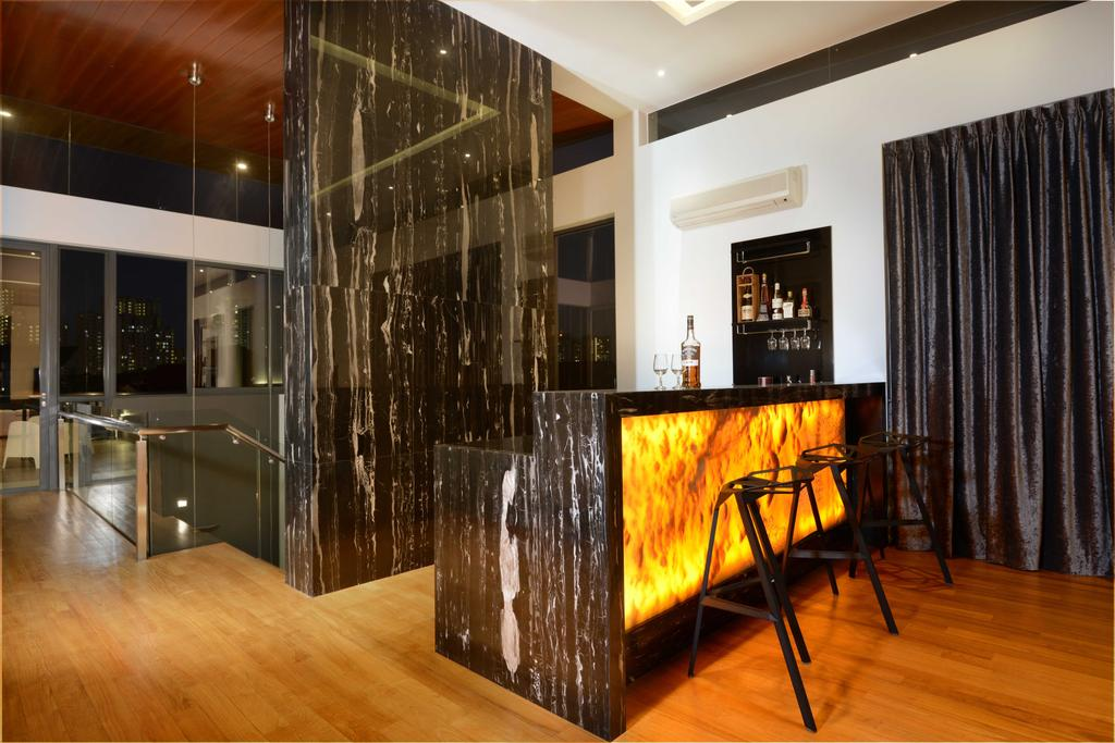 Modern, Landed, Wilkinson Road, Interior Designer, The Orange Cube, Bar Counter, Lounge Chairs, Wines, Stairs, Indoors, Interior Design, Hardwood, Wood