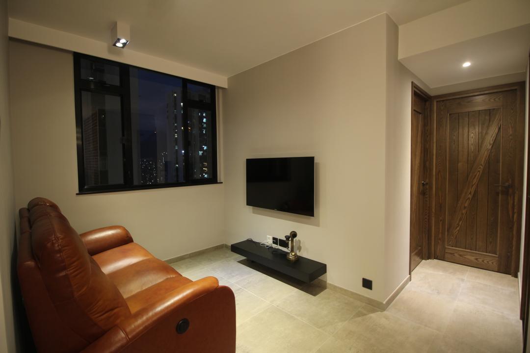 啟田大廈, Koi Decoration & Design, 工業, 私家樓, Couch, Furniture, Electronics, Entertainment Center, Home Theater, Chair, Flooring