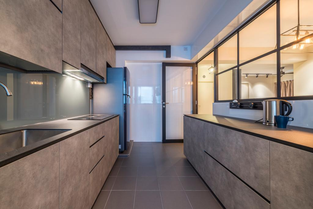 Scandinavian, HDB, Kitchen, Fernvale Link, Interior Designer, Thom Signature Design