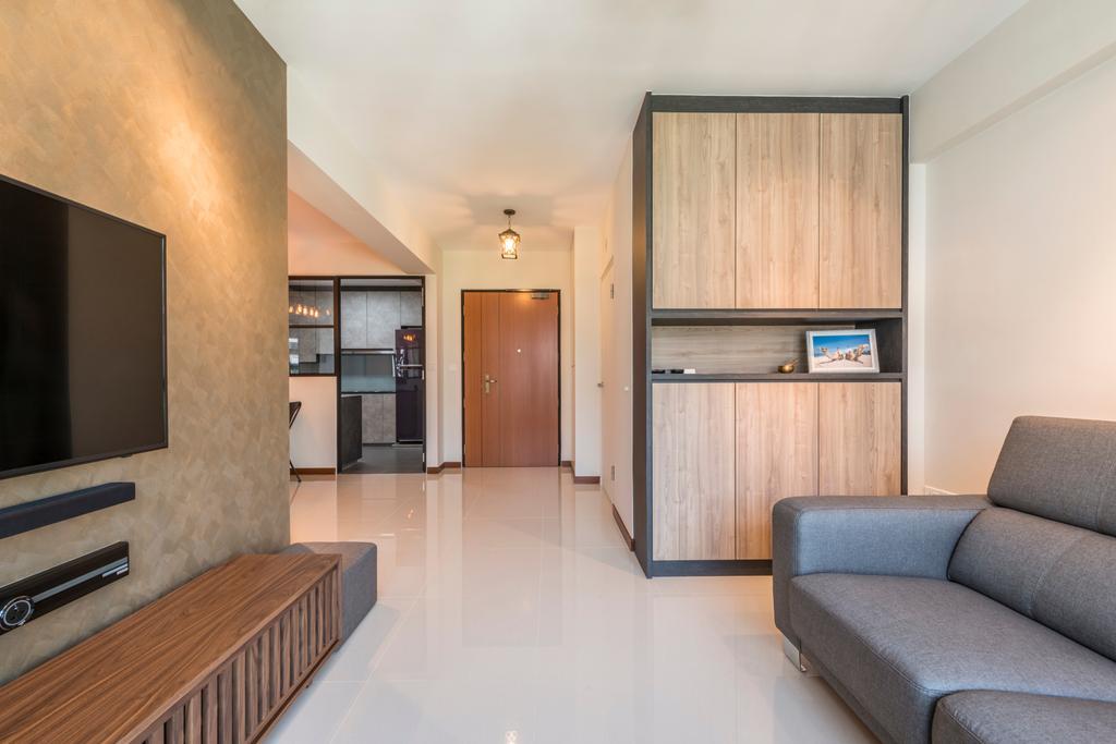 Scandinavian, HDB, Living Room, Fernvale Link, Interior Designer, Thom Signature Design