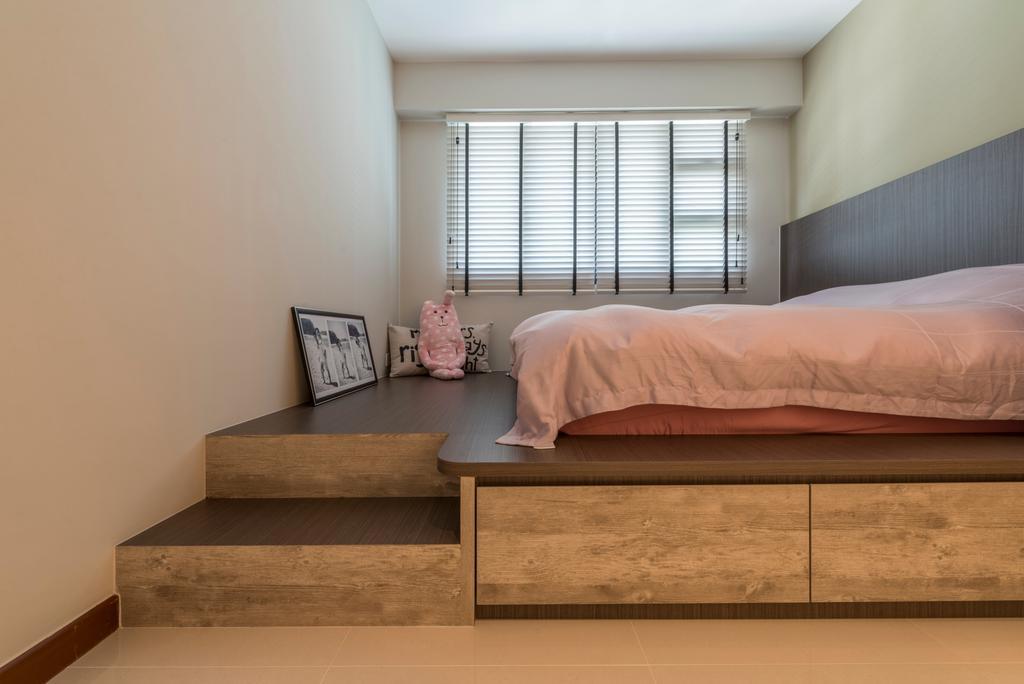 Scandinavian, HDB, Bedroom, Fernvale Link, Interior Designer, Thom Signature Design
