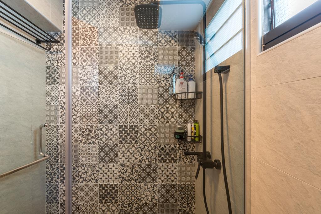 Scandinavian, HDB, Bathroom, Fernvale Link, Interior Designer, Thom Signature Design