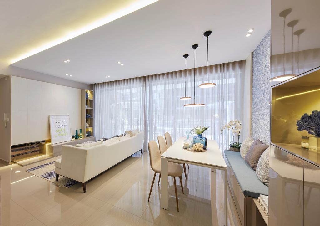 Scandinavian, Condo, Living Room, Parc Life, Interior Designer, Elements ID, Dining Table, Furniture, Table, Indoors, Interior Design, Dining Room, Room