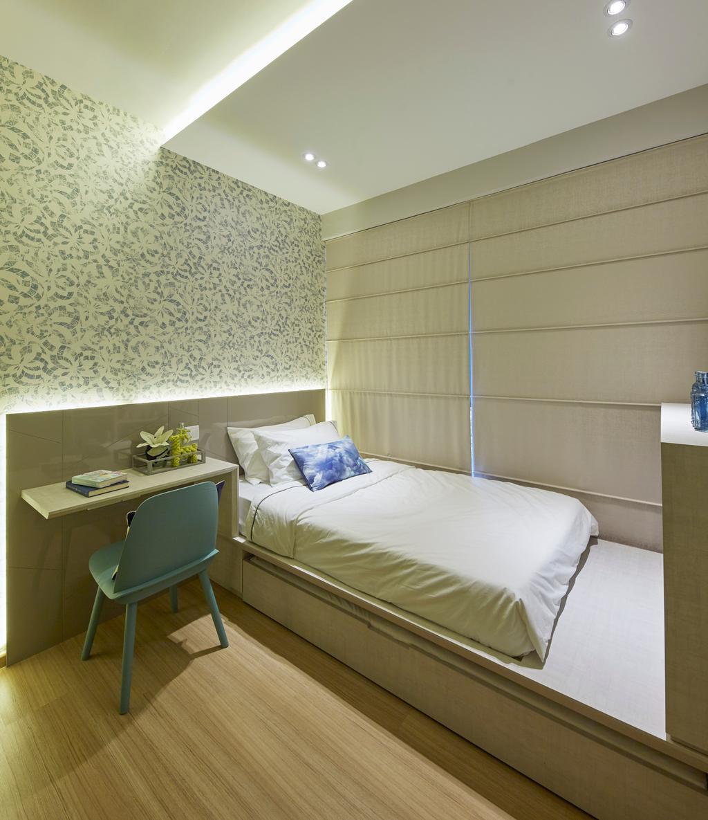 Scandinavian, Condo, Bedroom, Parc Life, Interior Designer, Elements ID, Chair, Furniture, Bed