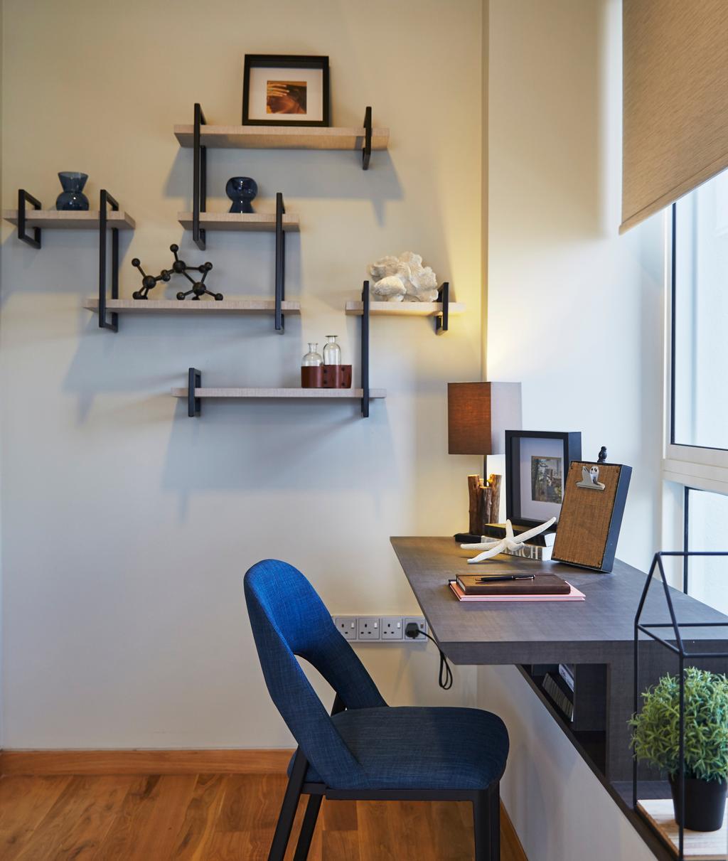 Contemporary, Condo, Study, The Peak, Interior Designer, Elements ID, Appliance, Electrical Device, Oven, Shelf