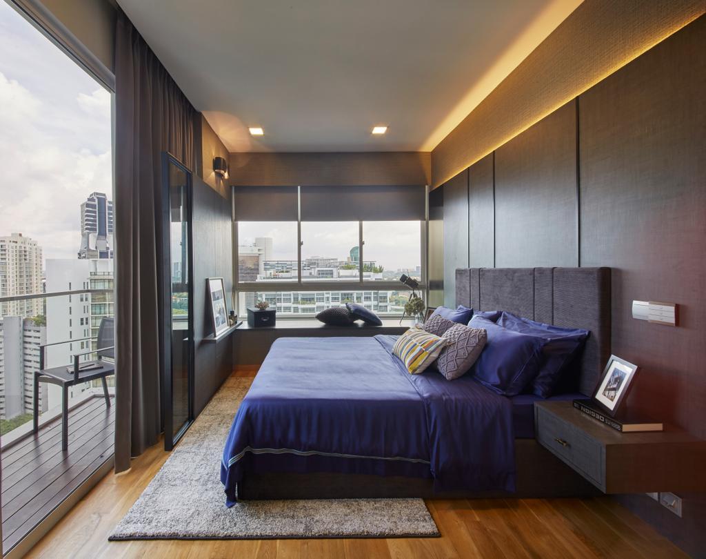 Contemporary, Condo, Bedroom, The Peak, Interior Designer, Elements ID, Bed, Furniture, Corridor, Indoors, Room