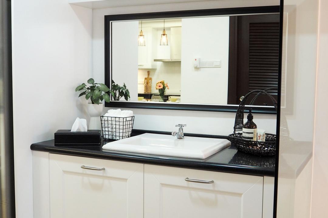 Ampang, Meridian Interior Design, Contemporary, Kitchen, Condo, Flora, Jar, Plant, Planter, Potted Plant, Pottery, Vase, Sink, Indoors, Interior Design, Room