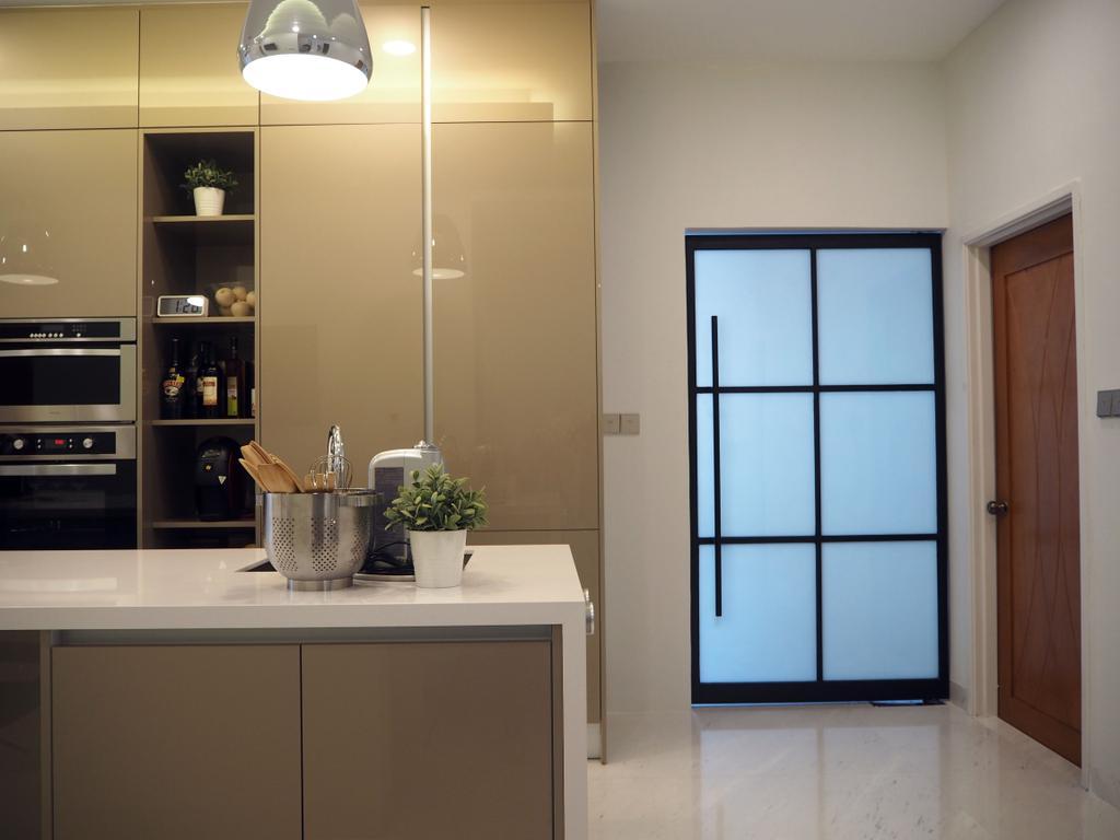 Landed, Kitchen, Ara Damansara, Interior Designer, Meridian Interior Design, Flora, Jar, Plant, Potted Plant, Pottery, Vase, Bowl, Indoors, Interior Design