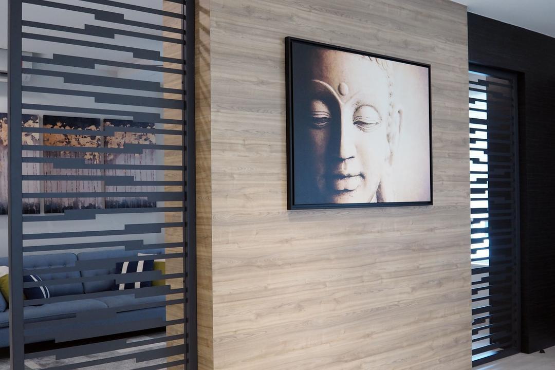 Ara Damansara, Meridian Interior Design, Living Room, Landed, Curtain, Home Decor, Shutter, Window, Window Shade, Art, Drawing, Sketch