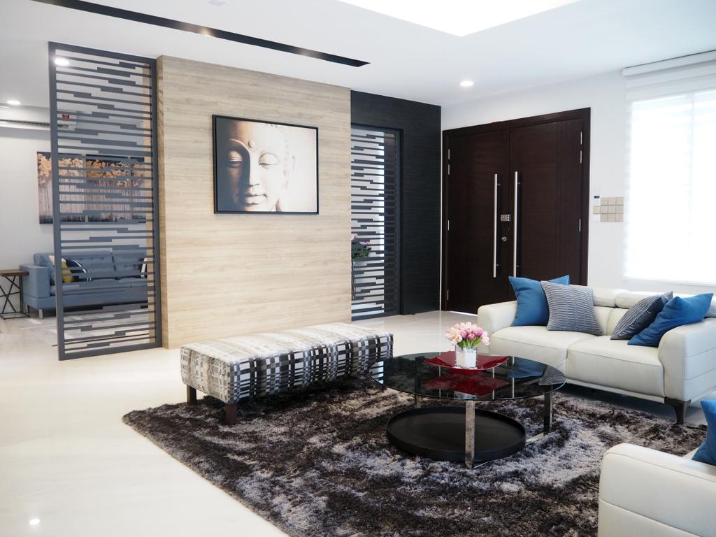 Landed, Living Room, Ara Damansara, Interior Designer, Meridian Interior Design, Indoors, Room