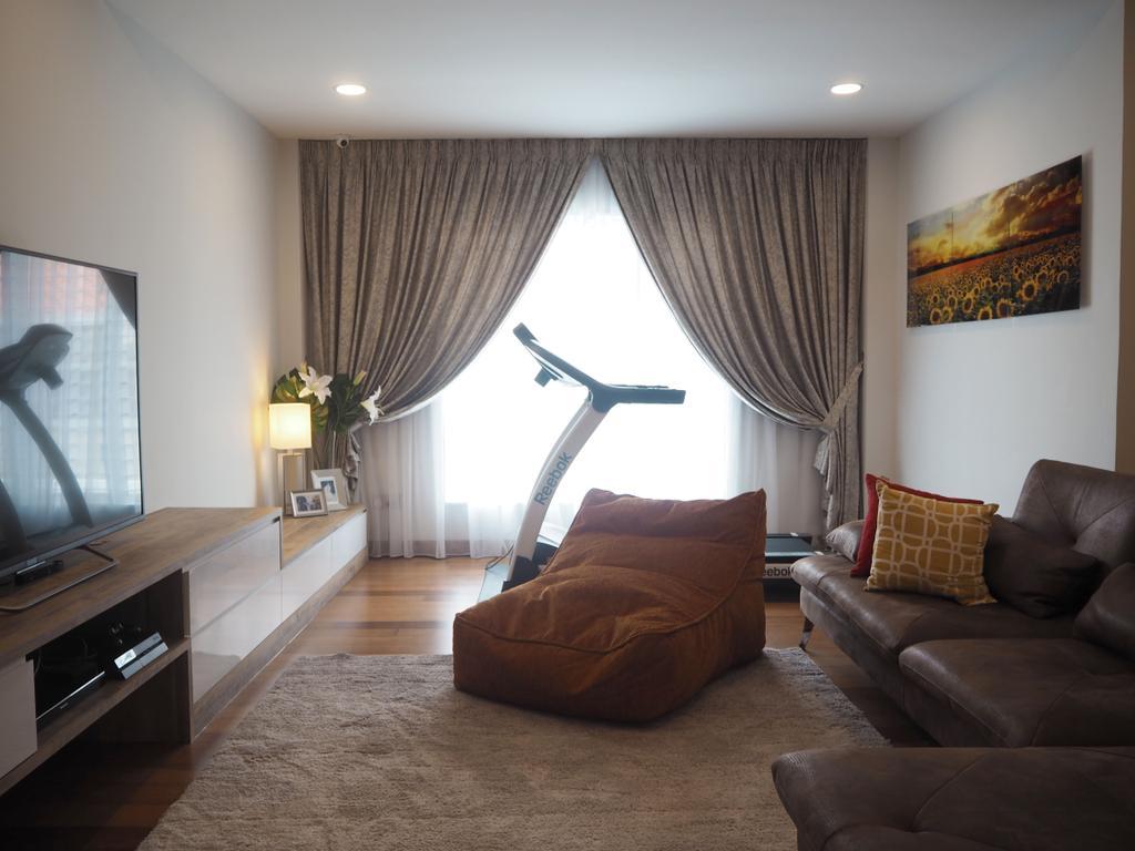 Landed, Ara Damansara, Interior Designer, Meridian Interior Design, Couch, Furniture, Indoors, Room, Curtain, Home Decor, Bedroom, Interior Design