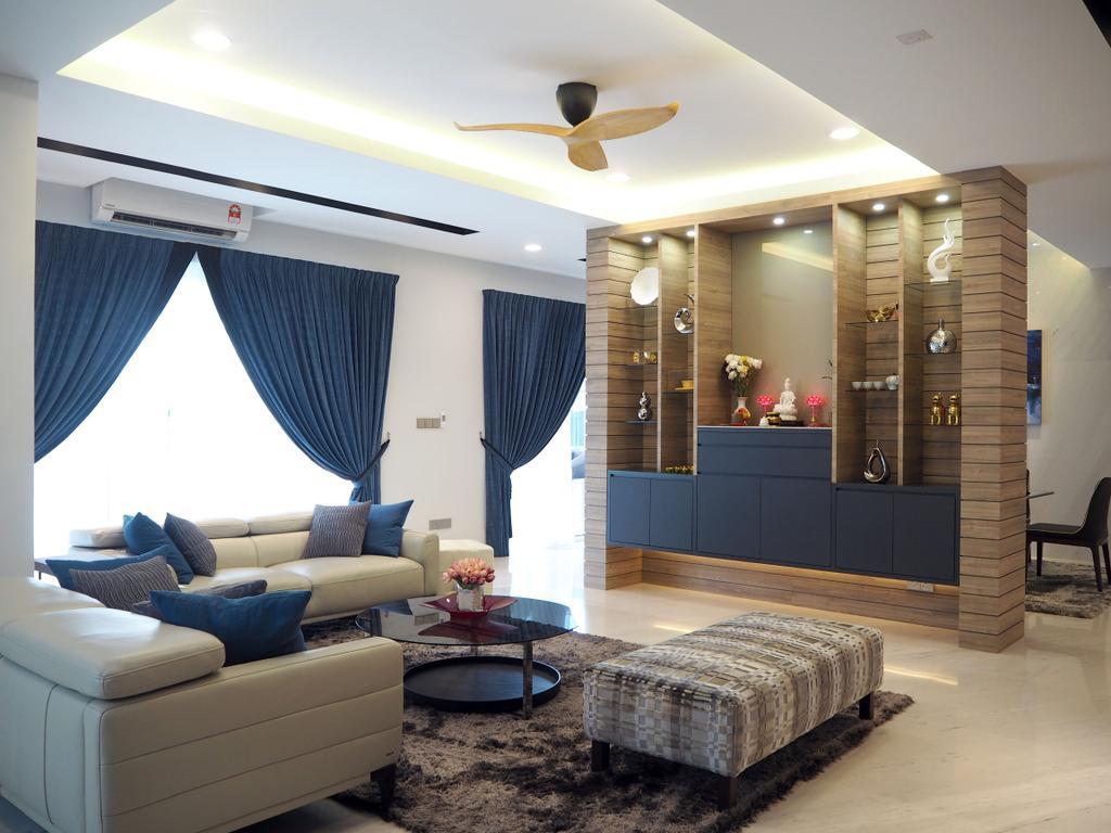 Landed, Living Room, Ara Damansara, Interior Designer, Meridian Interior Design, Couch, Furniture, Indoors, Interior Design, Room