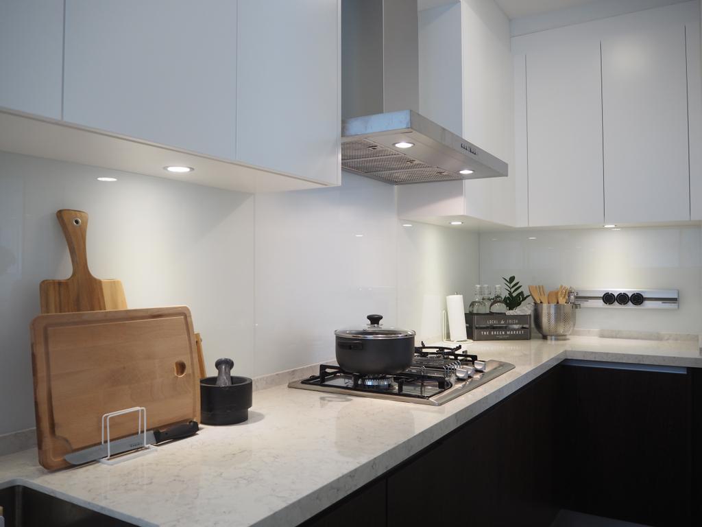 Contemporary, Landed, Kitchen, Cheras, Interior Designer, Meridian Interior Design, Minimalistic, Chair, Furniture