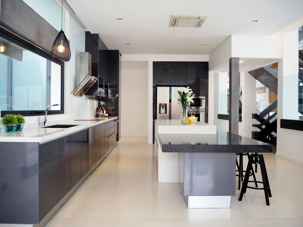 Contemporary, Landed, Kitchen, Bangsar, Interior Designer, Meridian Interior Design, Dining Table, Furniture, Table, Indoors, Interior Design, Room, Flooring