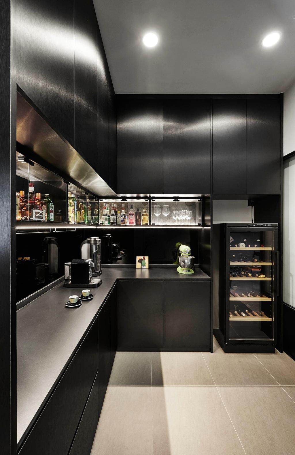 Minimalistic, Landed, Kitchen, Springside View, Interior Designer, Third Avenue Studio, Modern, Sink