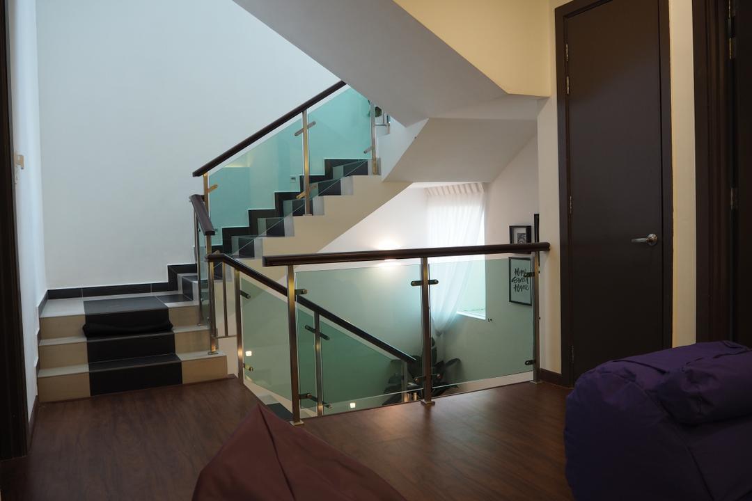 Ampang, Meridian Interior Design, Modern, Landed, Apartment, Building, Housing, Indoors, Loft, Bedroom, Interior Design, Room, Banister, Handrail, Staircase