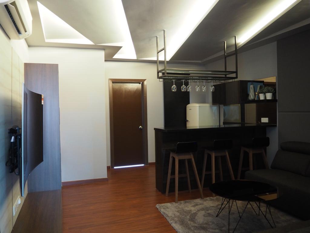 Modern, Landed, Ampang, Interior Designer, Meridian Interior Design, Chair, Furniture, Apartment, Building, Housing, Indoors, Loft, Bar Stool