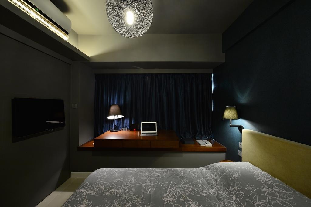 摩登, 私家樓, 尚御, 室內設計師, KOO interior design, 睡房, Indoors, Interior Design, Room, Lighting