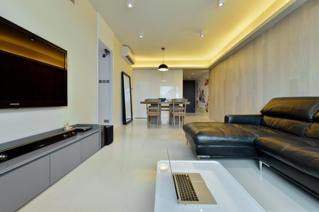 尚御, KOO interior design, 摩登, 私家樓, Indoors, Interior Design, Couch, Furniture, Appliance, Electrical Device, Microwave, Oven