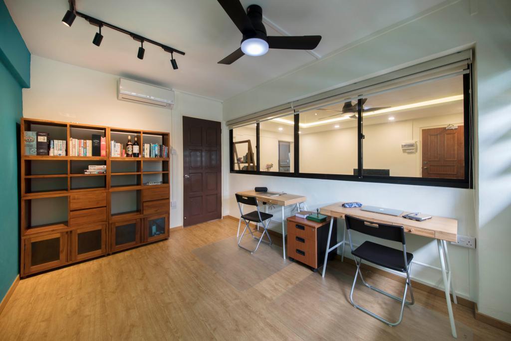 Scandinavian, HDB, Study, Ang Mo Kio Avenue 10, Interior Designer, Omni Design