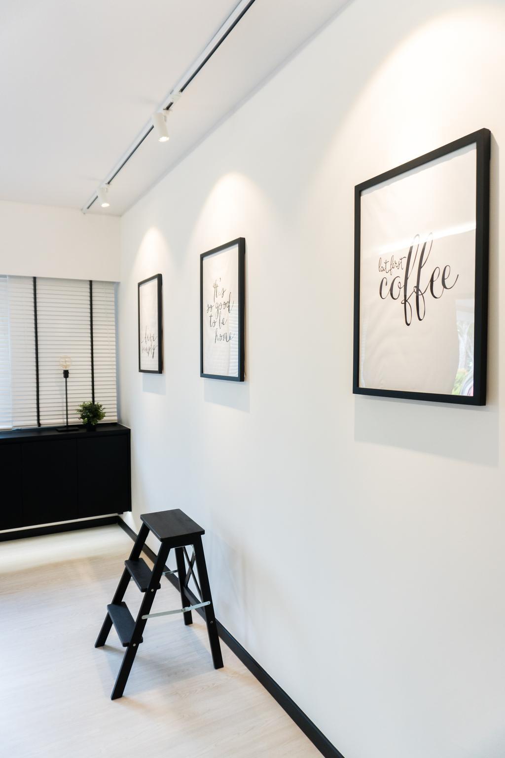 Minimalistic, HDB, Study, Ang Mo Kio Avenue 3, Interior Designer, Happe Design Atelier, Autograph, Handwriting, Signature, Text, Furniture, Sideboard, Dining Table, Table