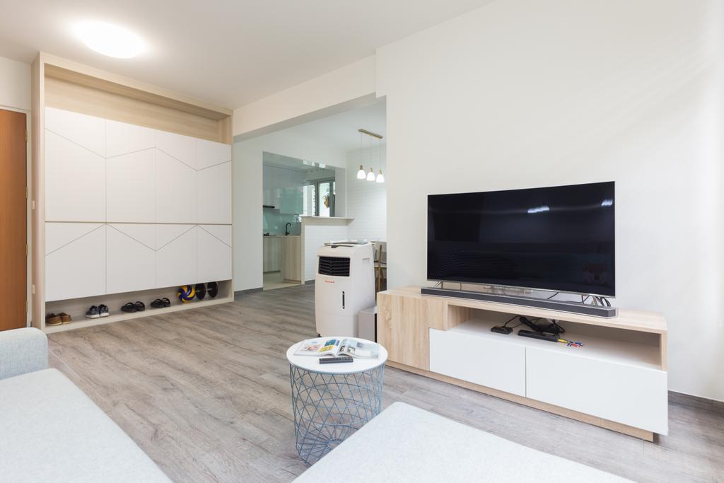 HDB, Living Room, Bukit Batok West Avenue 8, Interior Designer, Team Interior Design, Indoors, Interior Design, Flooring, Room