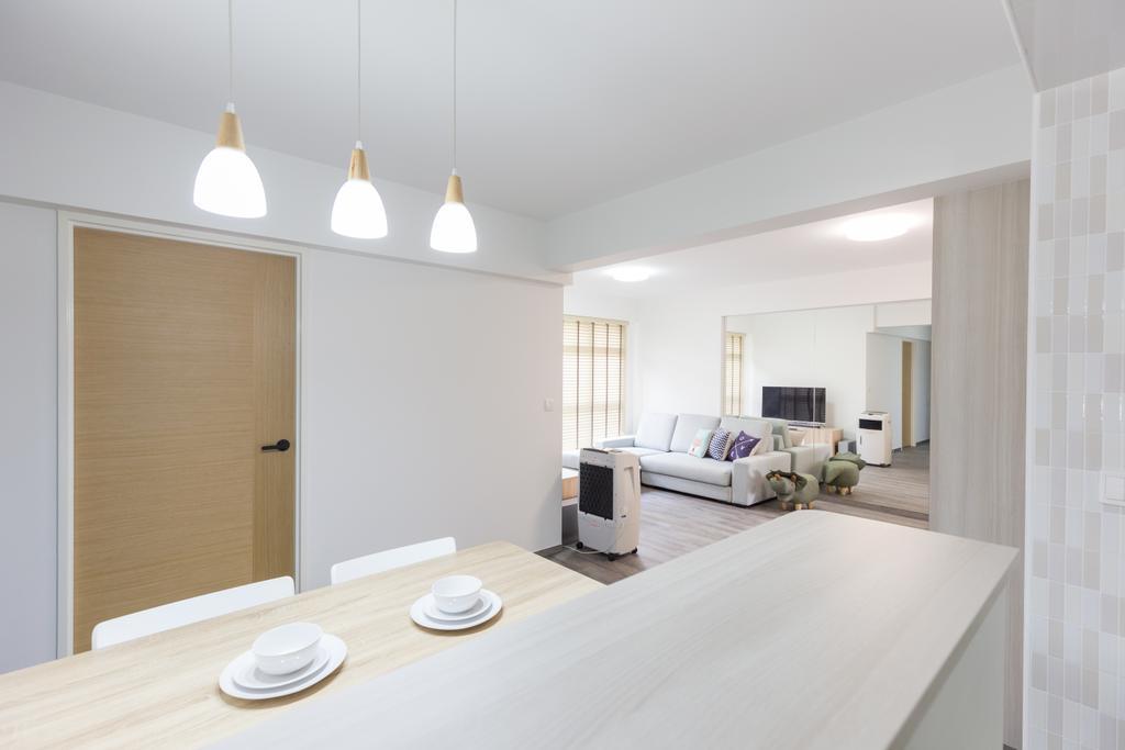 HDB, Dining Room, Bukit Batok West Avenue 8, Interior Designer, Team Interior Design, Indoors, Interior Design, Living Room, Room