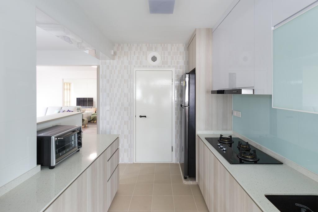 HDB, Kitchen, Bukit Batok West Avenue 8, Interior Designer, Team Interior Design, Sink, Indoors, Interior Design, Room, Appliance, Electrical Device, Microwave, Oven