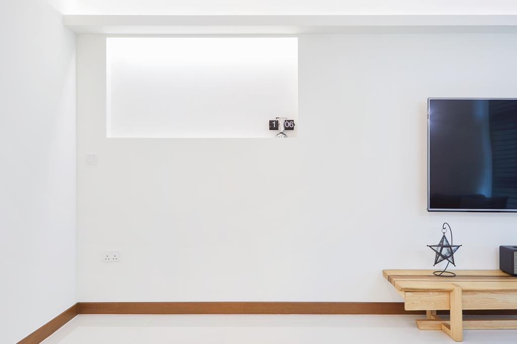 Modern, HDB, Living Room, Joo Seng Road, Interior Designer, The Local INN.terior 新家室, Minimalist, Electronics, Lcd Screen, Monitor, Screen
