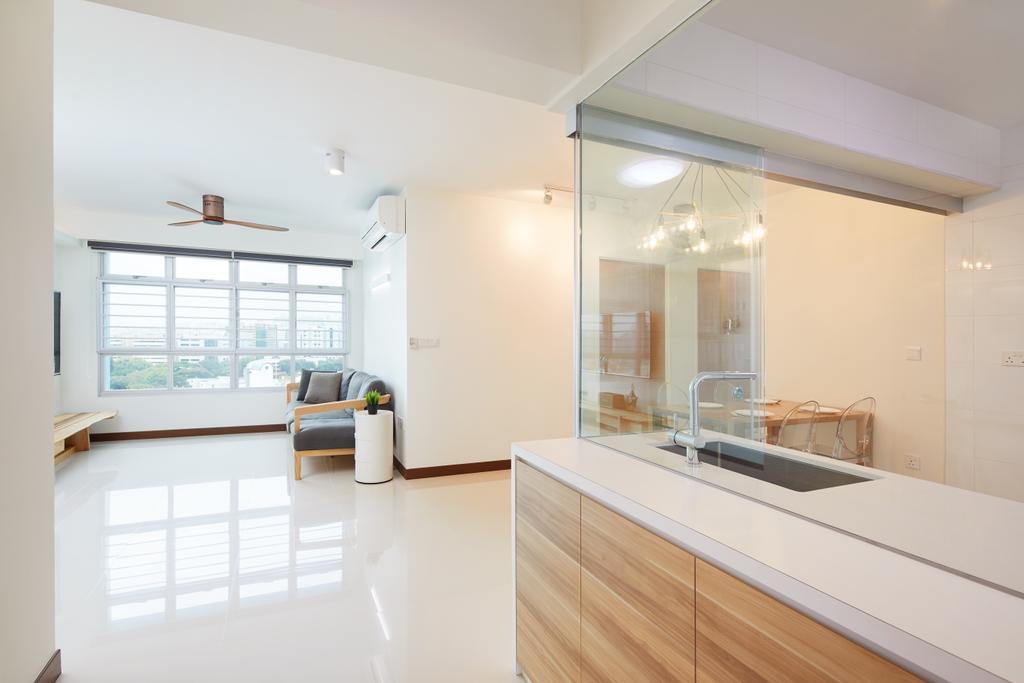 Modern, HDB, Living Room, Joo Seng Road, Interior Designer, The Local INN.terior 新家室, Minimalistic, Sink, Indoors, Interior Design