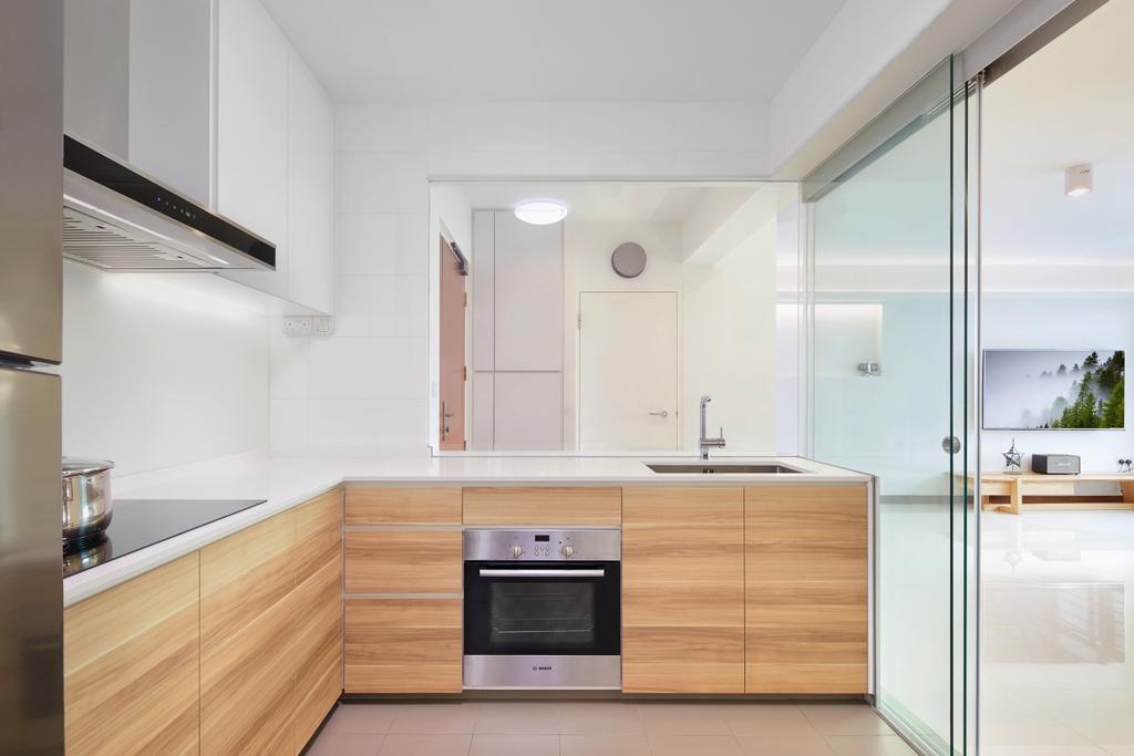 Modern, HDB, Kitchen, Joo Seng Road, Interior Designer, The Local INN.terior 新家室, Minimalistic, Appliance, Electrical Device, Oven, Indoors, Interior Design