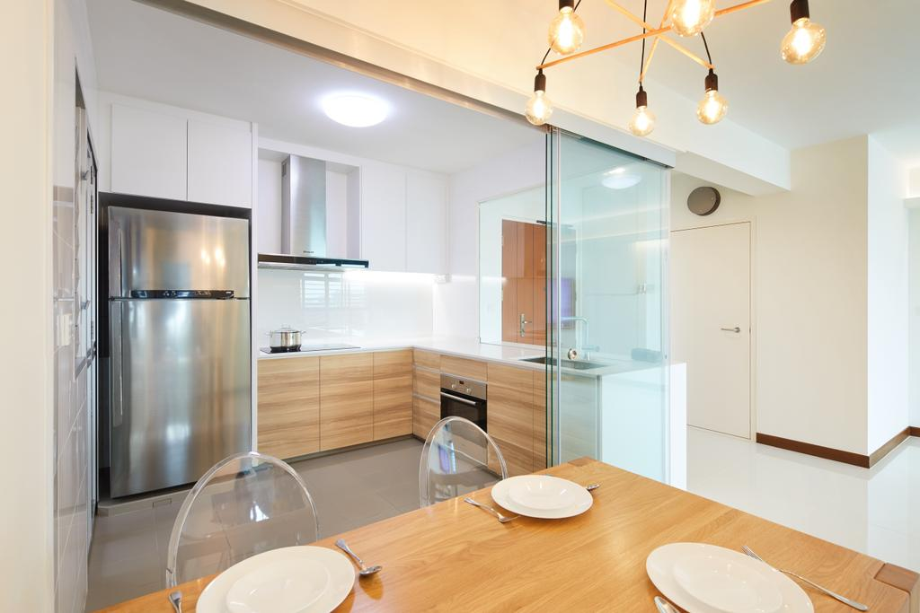 Modern, HDB, Dining Room, Joo Seng Road, Interior Designer, The Local INN.terior 新家室, Minimalistic, Indoors, Interior Design, Room, Sink