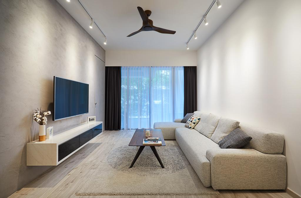 Minimalistic, Condo, Living Room, West Coast, Interior Designer, The Local INN.terior 新家室, Modern, Couch, Furniture, Indoors, Interior Design, Propeller