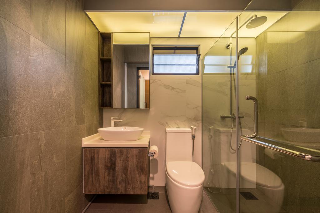Scandinavian, HDB, Bathroom, Compassvale Bow, Interior Designer, Team Interior Design, Indoors, Interior Design, Room