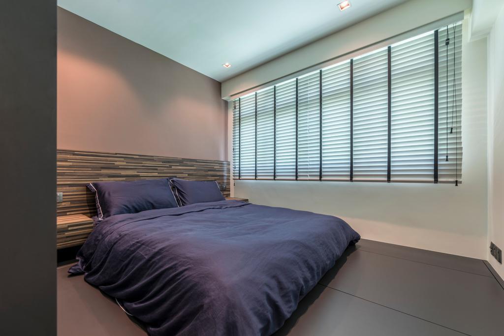 Scandinavian, HDB, Bedroom, Compassvale Bow, Interior Designer, Team Interior Design, Indoors, Interior Design, Room, Bed, Furniture