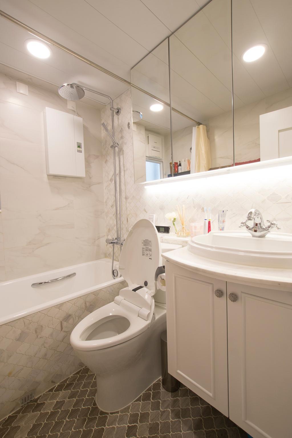 私家樓, 又一居, 室內設計師, 雨田創建, Toilet, 浴室, Indoors, Interior Design, Room, Sink, Jacuzzi, Tub