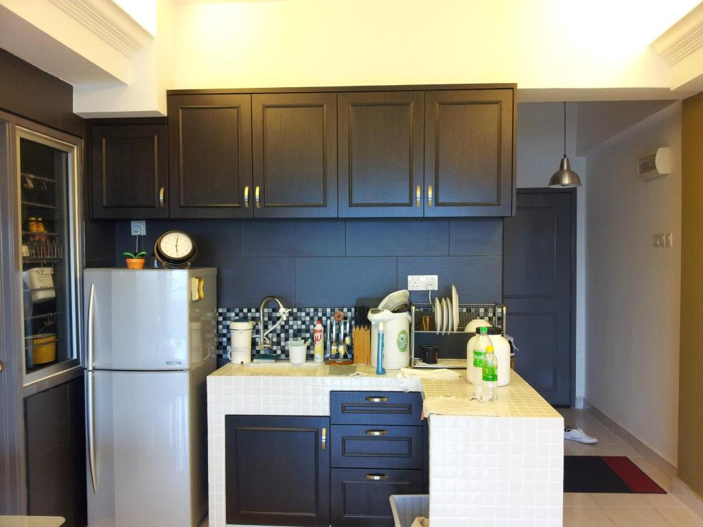 Contemporary, Apartment, Kitchen, Megaria Tulip (Bukit Serdang), Interior Designer, Icon Factory, Indoors, Interior Design, Room, Appliance, Electrical Device, Oven, Fridge, Refrigerator, Microwave