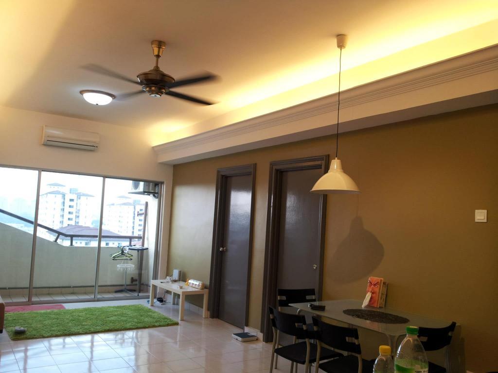Contemporary, Apartment, Living Room, Megaria Tulip (Bukit Serdang), Interior Designer, Icon Factory, Mat, Dining Room, Indoors, Interior Design, Room, Building, Housing