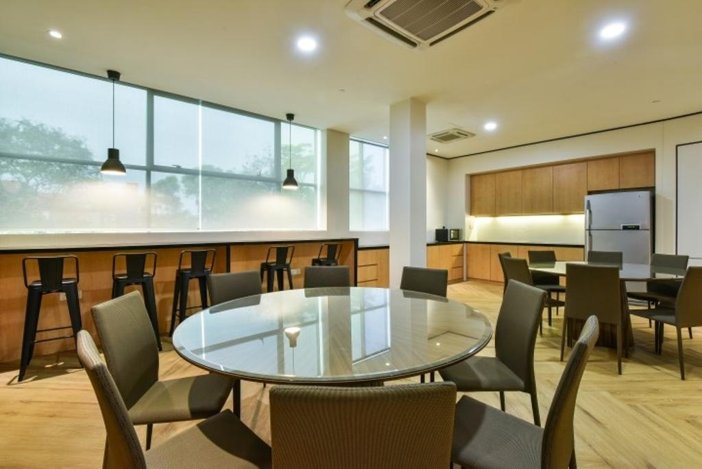 Century Total Logistics (Klang), Commercial, Interior Designer, Icon Factory, Contemporary, Chair, Furniture, Couch, Dining Table, Table, Conference Room, Indoors, Meeting Room, Room, Dining Room, Interior Design, Appliance, Electrical Device, Fridge, Refrigerator