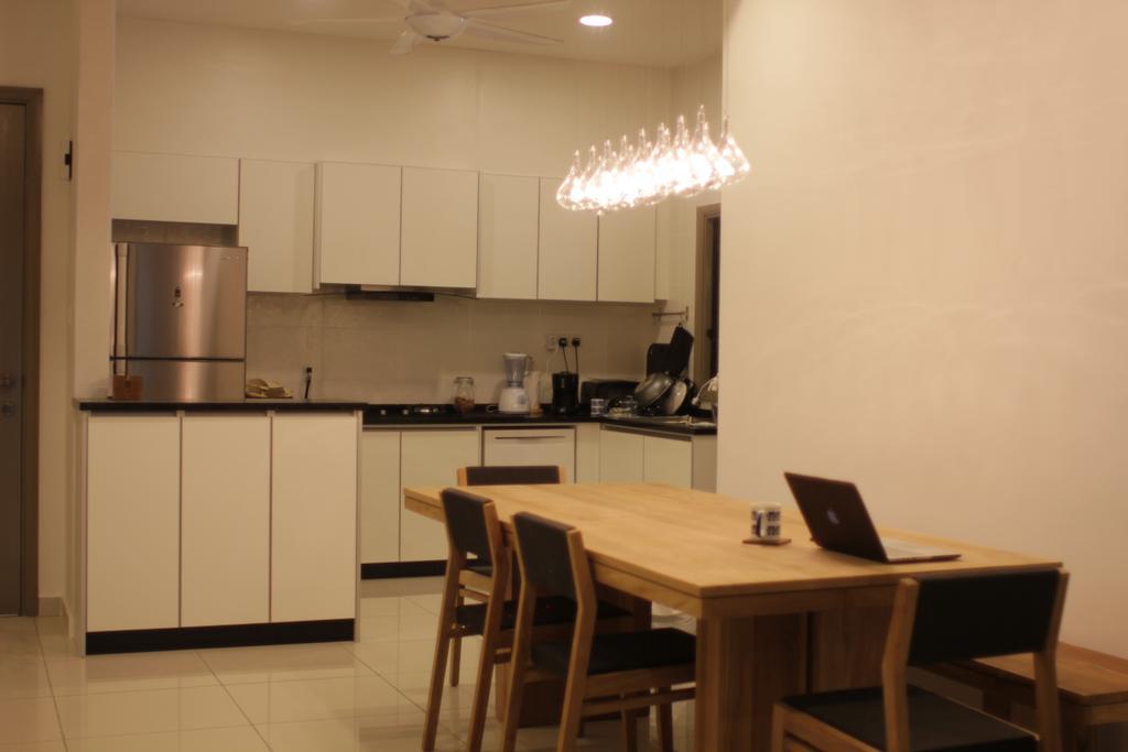 Contemporary, Condo, Dining Room, Cheras Heights, Interior Designer, Icon Factory, Dining Table, Furniture, Table, Indoors, Interior Design, Room, Chair, Kitchen