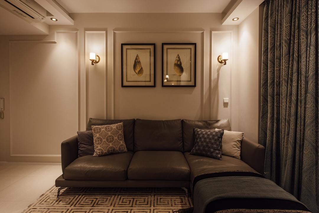 Amore, Fatema Design Studio, Scandinavian, Living Room, Condo, Couch, Furniture, Indoors, Room, Cushion, Home Decor, Pillow