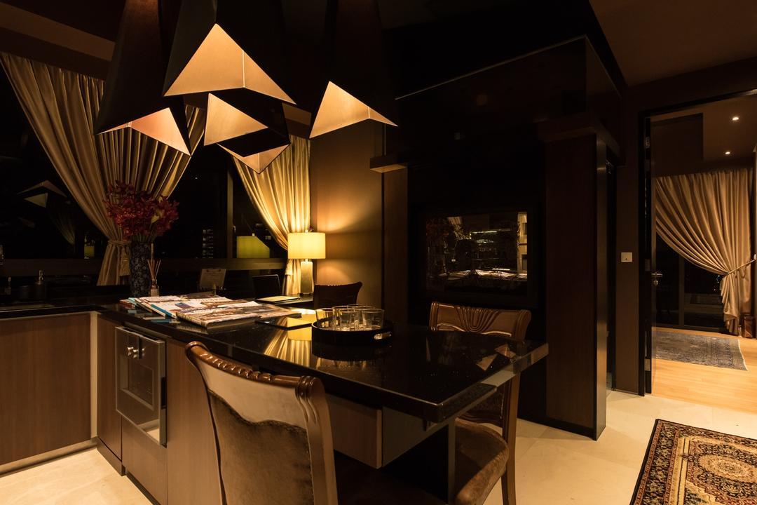 The Cape, Fatema Design Studio, Kitchen, Condo, Carpet, Home Decor, Couch, Furniture, Indoors, Interior Design, Room