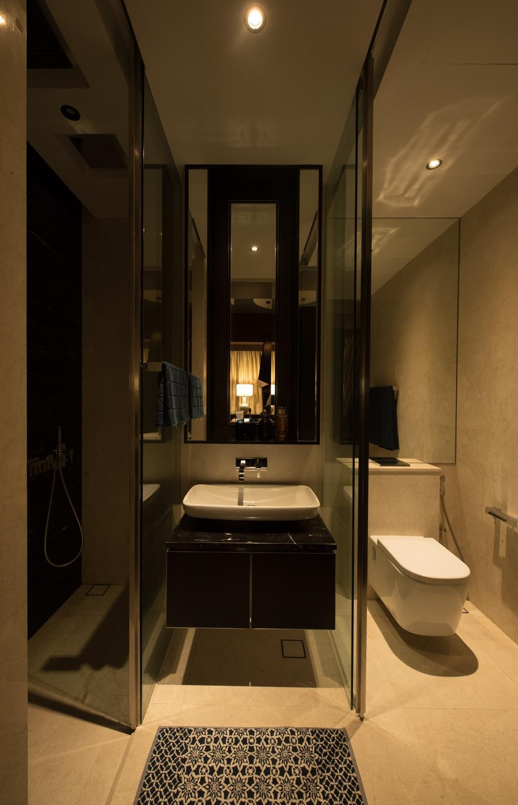 Condo, Bathroom, The Cape, Interior Designer, Fatema Design Studio, Toilet, Indoors, Interior Design, Room