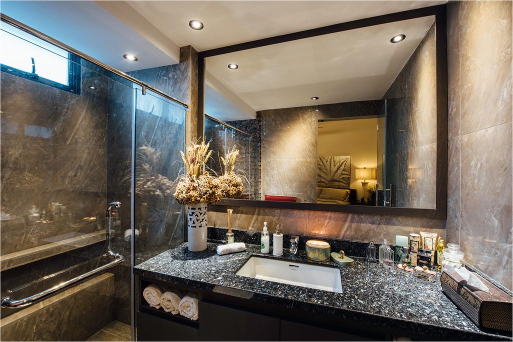 Contemporary, Condo, Bathroom, Regent Grove, Interior Designer, Fatema Design Studio, Flora, Jar, Plant, Potted Plant, Pottery, Vase, Indoors, Interior Design