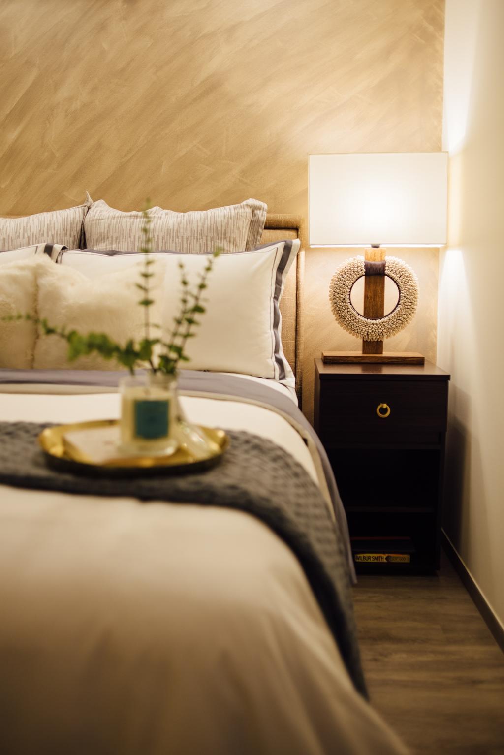 Scandinavian, HDB, Bedroom, Tampines Street 22, Interior Designer, Fatema Design Studio, Flora, Jar, Plant, Potted Plant, Pottery, Vase, Indoors, Interior Design