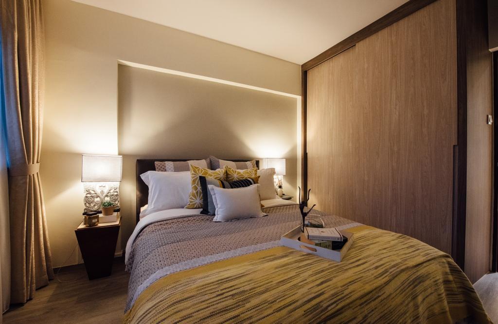 Scandinavian, HDB, Tampines Street 22, Interior Designer, Fatema Design Studio, Bedroom, Indoors, Interior Design, Room