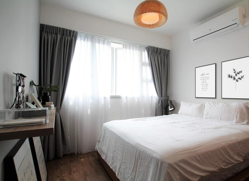 Minimalistic, HDB, Jalan Tenteram, Interior Designer, Intrigue-d Design Consultancy, Scandinavian, Bedroom, Indoors, Interior Design, Room, Paper
