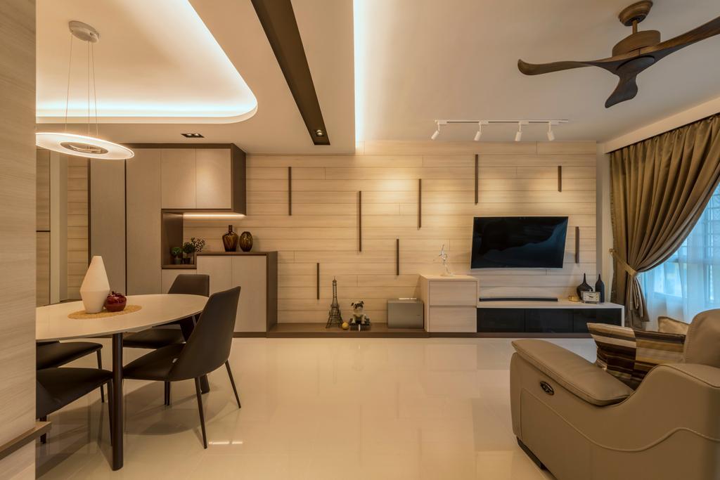 Scandinavian, HDB, Living Room, Fajar Road, Interior Designer, Thom Signature Design