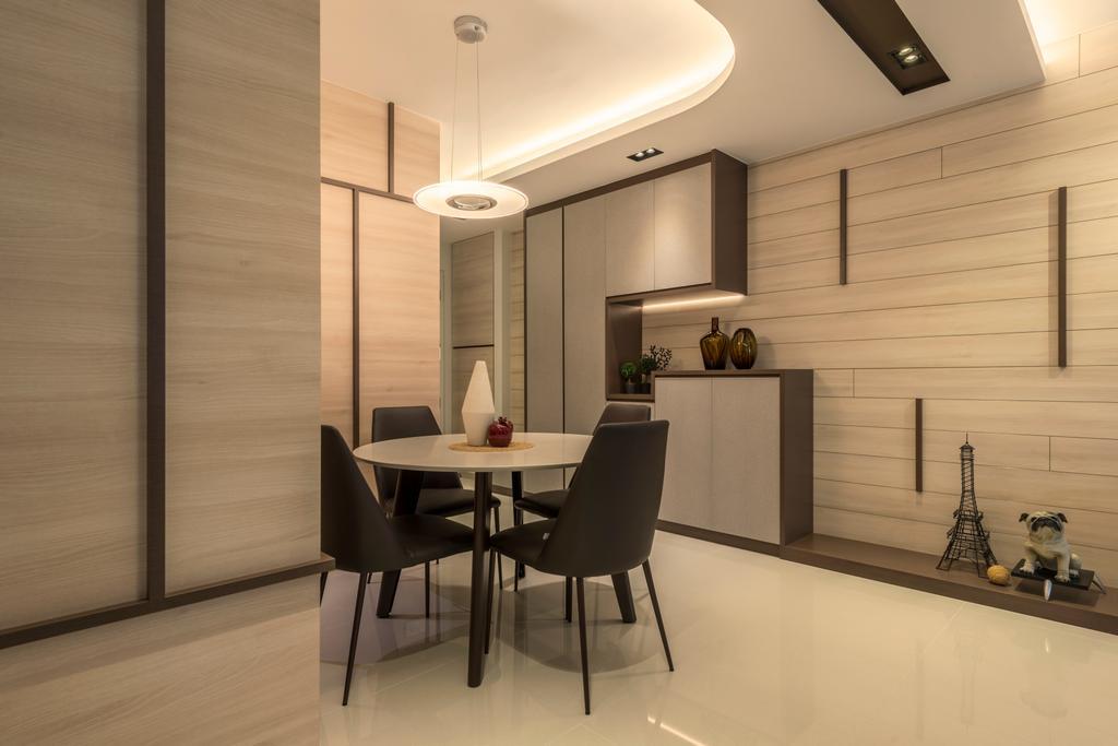 Scandinavian, HDB, Dining Room, Fajar Road, Interior Designer, Thom Signature Design