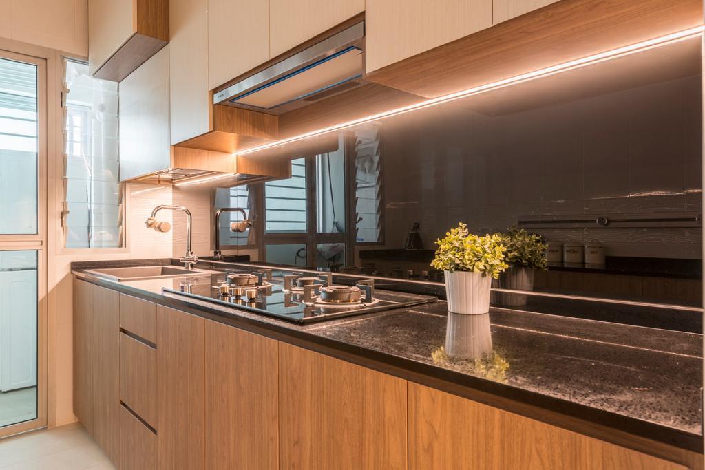 Scandinavian, HDB, Kitchen, Fajar Road, Interior Designer, Thom Signature Design
